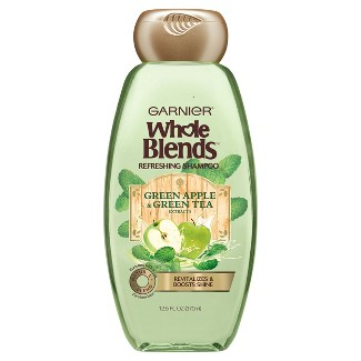 Garnier Whole Blends Green Apple & Green Tea Extracts Refreshing Shampoo - 12.5 fl oz