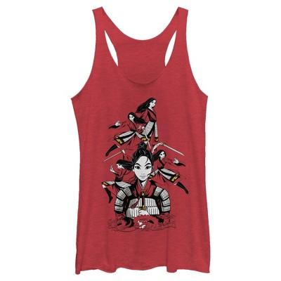 Women's Mulan Ready for Battle Racerback Tank Top