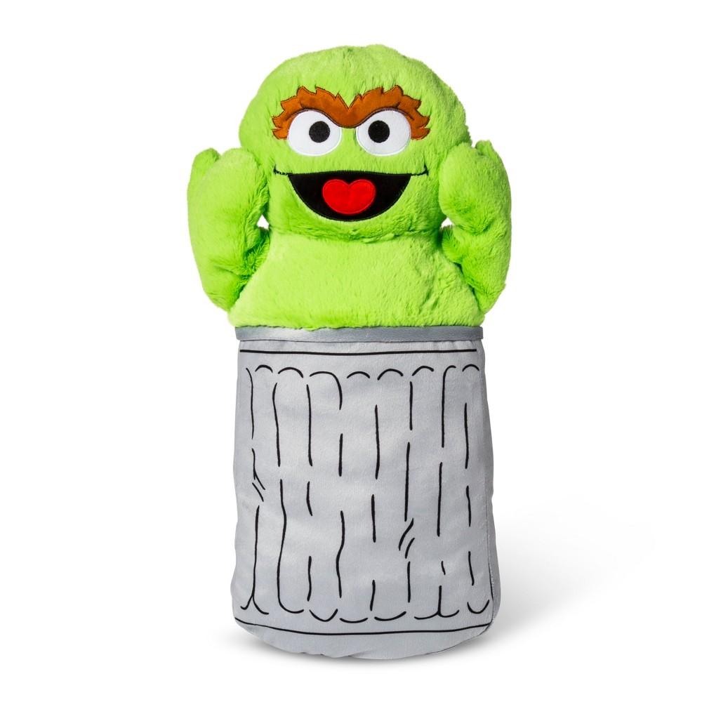 Throw Pillow Sesame Street Green Gray
