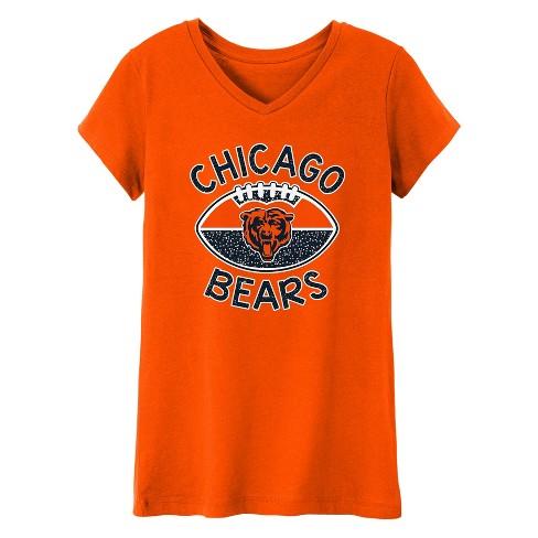 Chicago Bears Girls' Represent V-Neck T-Shirt L - image 1 of 1