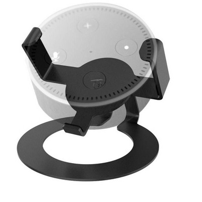 Monoprice Tilt Desk Mount for Amazon Echo Dot  - Black |Heavy-Duty | Small & Compact