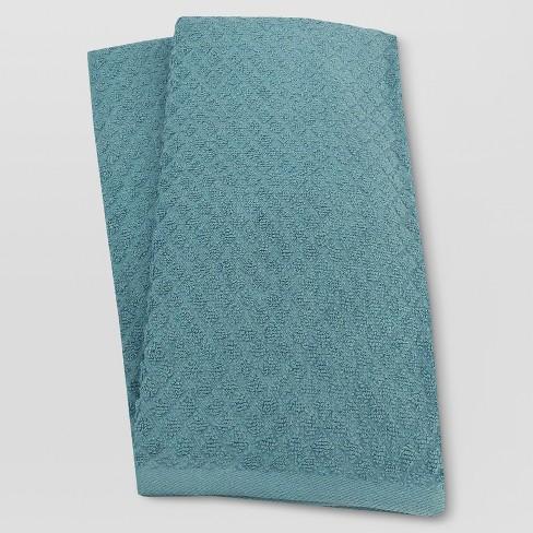 2pk Blue Kitchen Towel Threshold