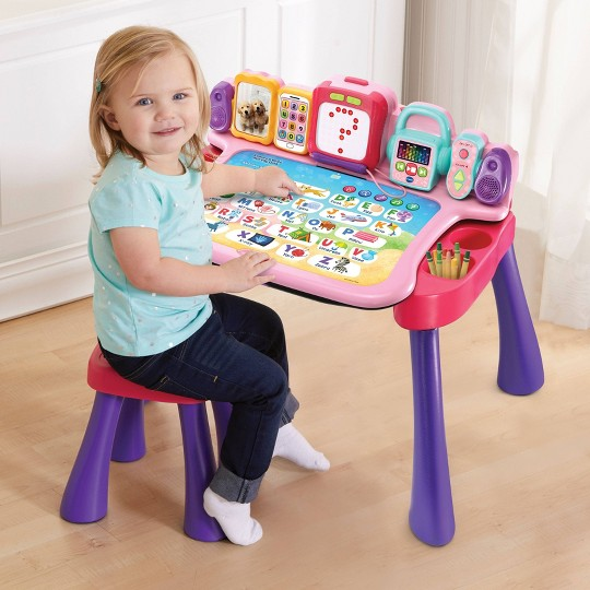 VTech Explore And Write Activity Desk - Pink image number null