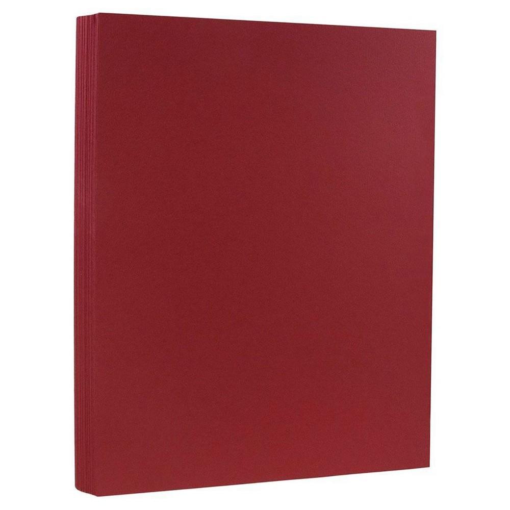 Jam Paper, Basis 28lb Paper, 8.5 x 11, 50pk - Dark Red, Deep Red