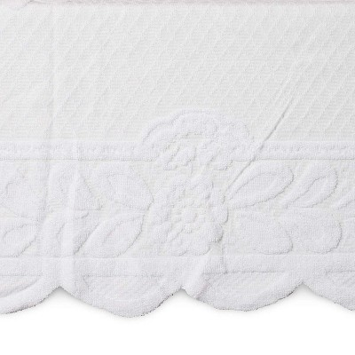 Juvale White Floral Polyester Dining Tablecloth Table Cover, 98 Inches Long x 60 in