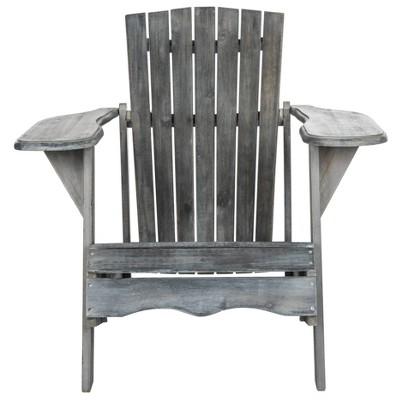 Elba Wood Patio Adirondack Chair - Gray - Safavieh