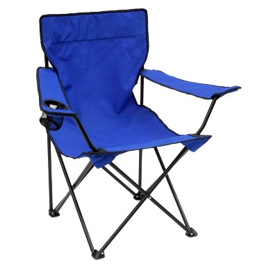 Mac Sports Bazaar Folding Arm Chair with Carrying Case - Blue