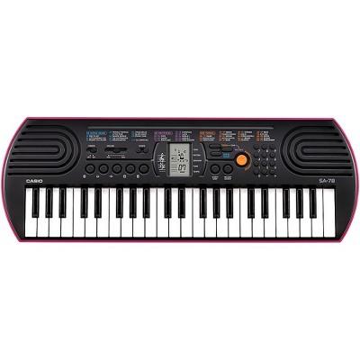 Casio SA-78 Mini-Size Keyboard Pink