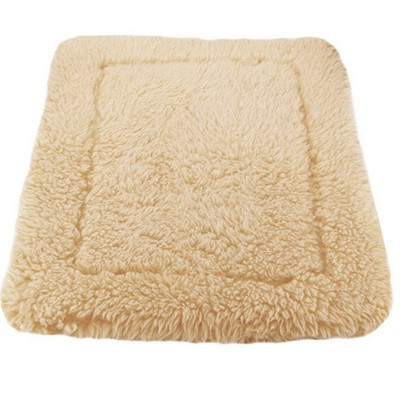 HuggleHounds HuggleFleece Synthetic Plush Lambswool Dog Mat, XS-XXL