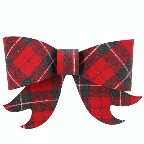 "Woven Plaid Short Tail Bow 7"" - Wondershop™ - image 1 of 1"