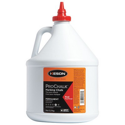 KESON PM105RED Marking Chalk,Waterproof,Red,5 lb.