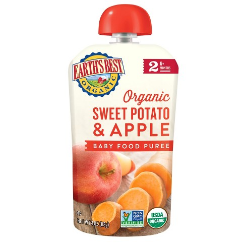 Earth's Best Organic Stage 2 Sweet Potato Apple Baby Food - (Select Count) - image 1 of 4