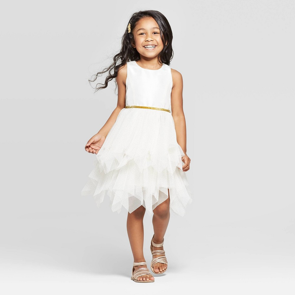 d2cbd0222 Toddler Girls Dress Cat Jack Off White Beige 2T