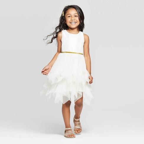 26f9f979dea Toddler Girls  Glitter Tulle Dress - Cat   Jack™ Off-White   Target