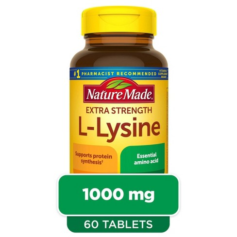 Nature Made Extra Strength L - Lysine 1000 mg Tablets - 60ct - image 1 of 4