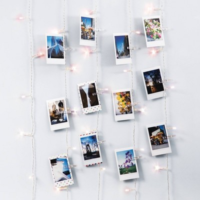 Merkury Photo Clips Curtain Lights Cascading LED String Lights Pink Ombre