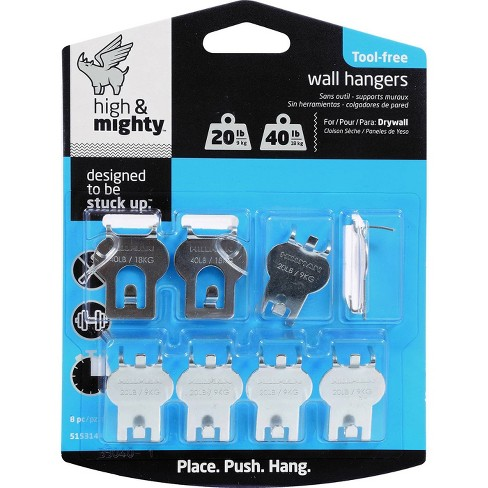 20-40lb Wall Hanging Kit Silver - High & Mighty - image 1 of 4