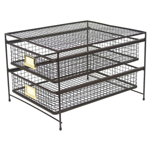 Rustic Wire 2-drawer Organizer - Threshold™ - image 1 of 2