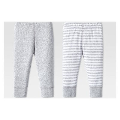 Lamaze Baby Organic Cotton 2pk Pants - Gray 12M