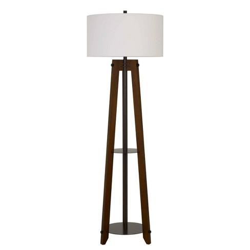 65 3 Way Bilzen Ash Wood Tripod Floor Lamp Walnut Cal Lighting Target
