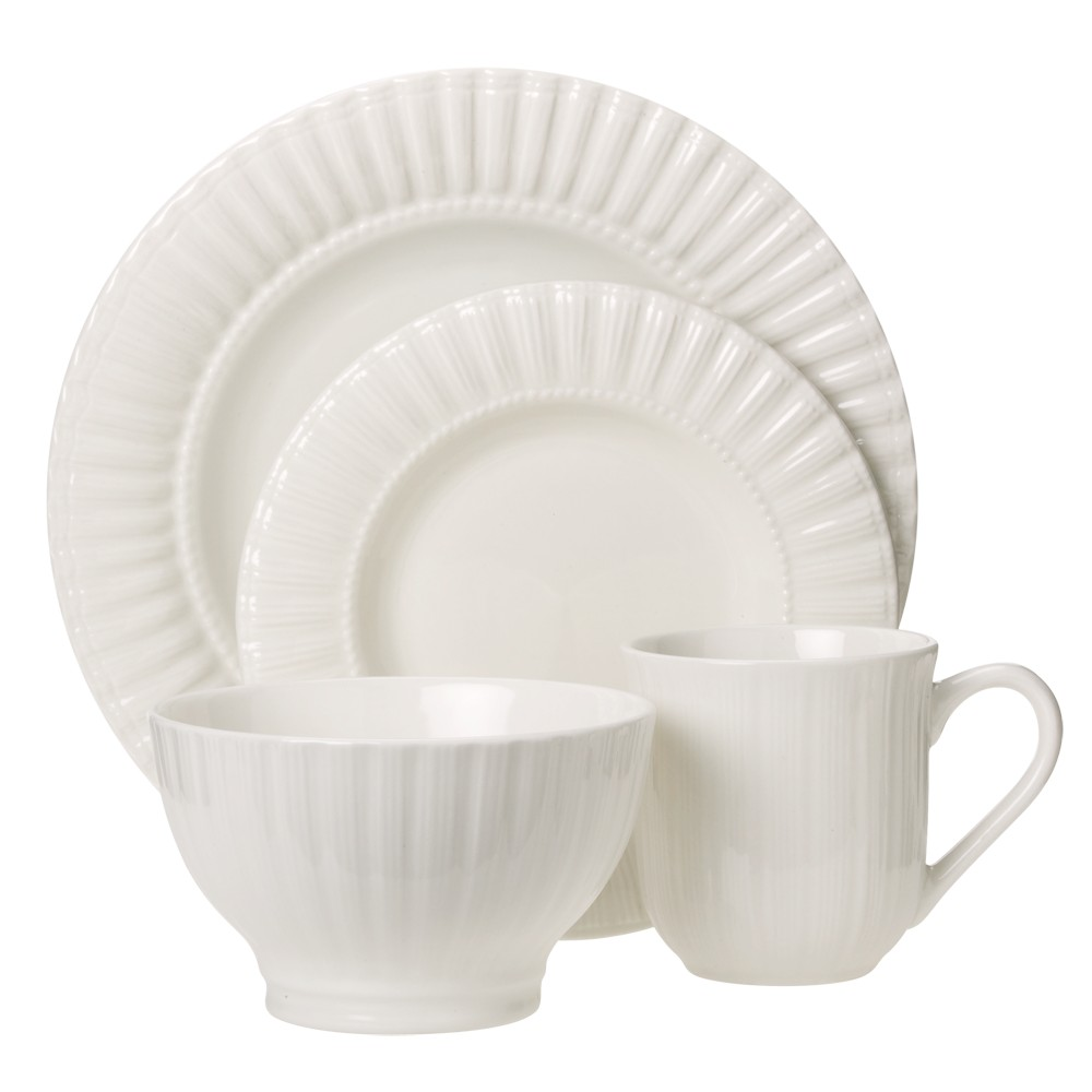 Image of C.C.A. International Maison 16pc Dinnerware Set White