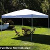12'x12' Quick-Up Steel Frame Canopy with Carrying Bag White - Sunnydaze - image 2 of 4