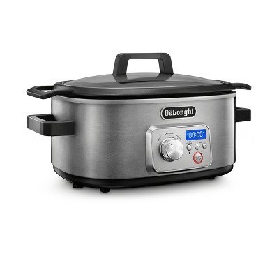 DeLonghi Livenza Slow Cooker With Stovetop Browning - CKS1660D - Stainless Steel