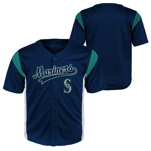 Seattle Mariners Baby Boys  Short Sleeve Button-Down Jersey - 12 M ... c317783bf