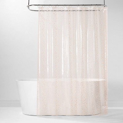 PEVA Shower Curtain Pink Dots - Room Essentials™
