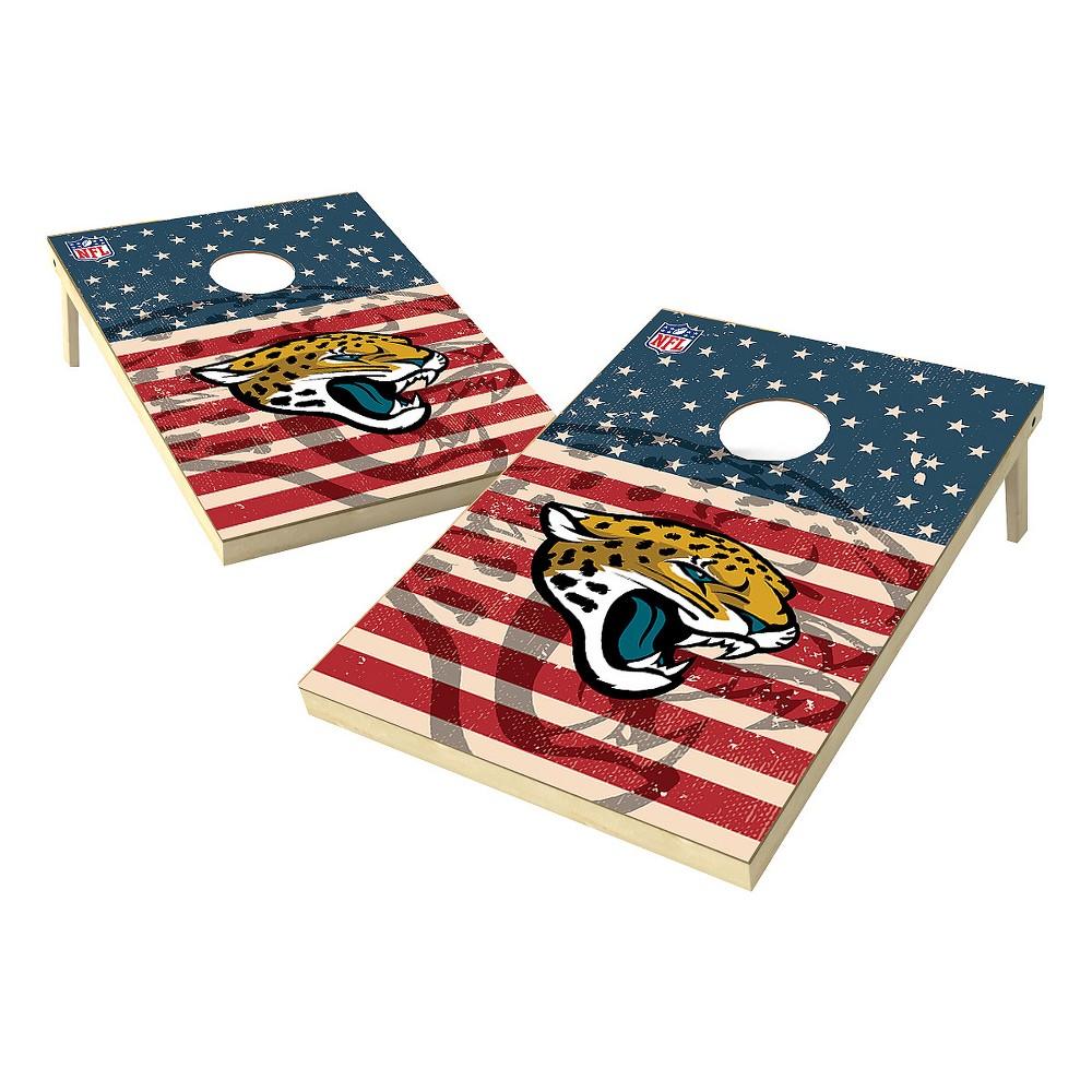 NFL Jacksonville Jaguars Wild Sports Worn Shadow Stars and Stripes 2x3ft. Cornhole Bean Bag Toss Set