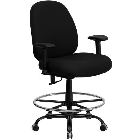 HERCULES Series 400 lb. Capacity Big & Tall Drafting Chair Black - Flash Furniture - image 1 of 4