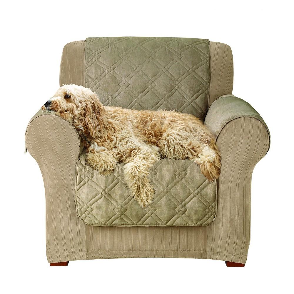 Incredible Furniture Friend Microfiber Nonskid Chair Pet Cover Sable Machost Co Dining Chair Design Ideas Machostcouk