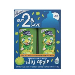 Suave 3-in-1 Body Wash + Shampoo And Conditioner Silly Apple - 1.06L