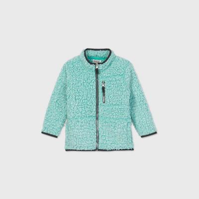 Toddler Boys' Frosted Fleece Stand Collar Zip-Up Sweatshirt - Cat & Jack™