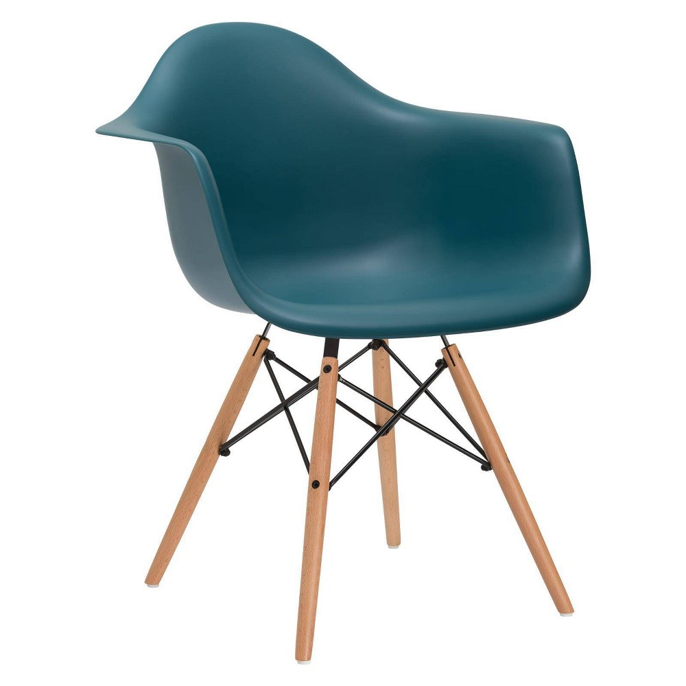Image of Bianca Mid Century Arm Chair Teal - Poly & Bark, Blue