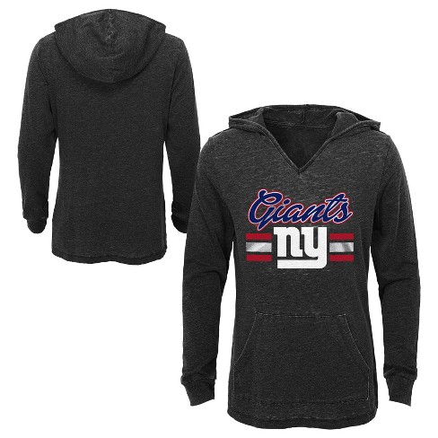 4faa92a9e New York Giants Girls  Game Time Gray Burnout Hoodie S   Target
