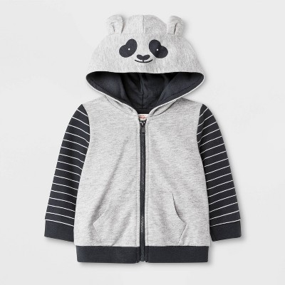 Baby Panda Sweatshirt - Cat & Jack™ Gray 6-9M