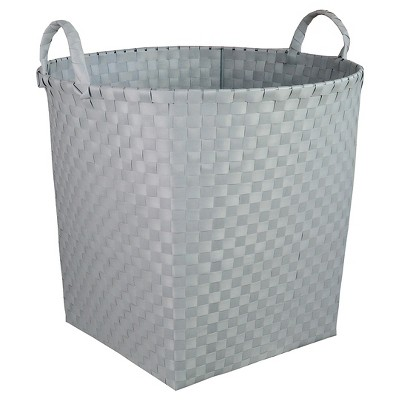 Woven Floor Bin Round Gray - Pillowfort™