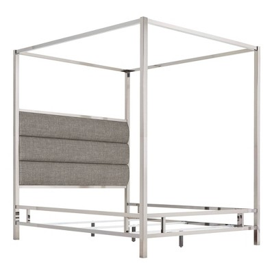 Manhattan Canopy Bed with Horizontal Panel Headboard - Inspire Q