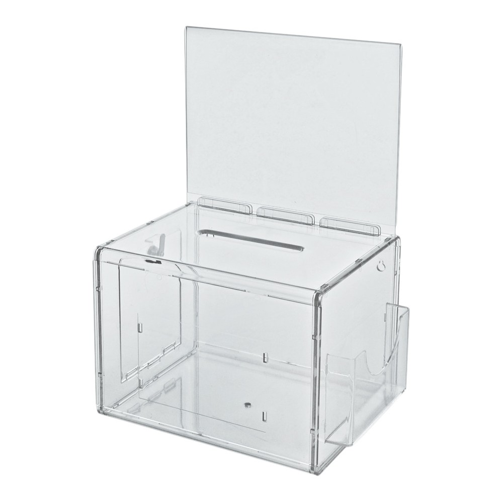 Azar Extra Large Suggestion Box with Lock Clear