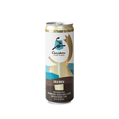 Caribou Coffee Cold Brew Vanilla Crafted - 11.5 fl oz Can