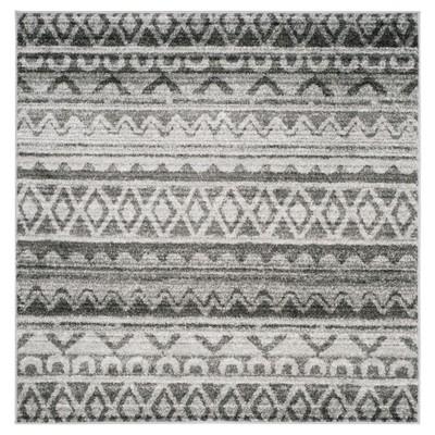 Adirondack Rug - Ivory/Charcoal - (6'x6' Square)- Safavieh®