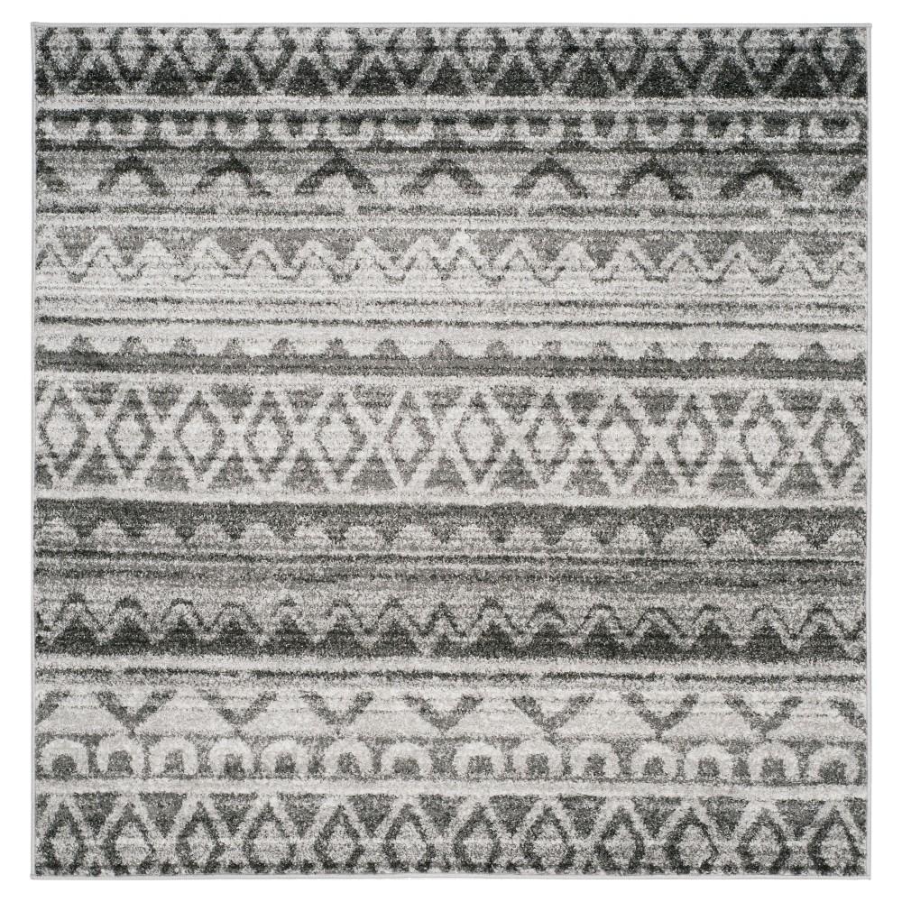 Adirondack Rug Ivory Charcoal 6 39 X6 39 Square Safavieh