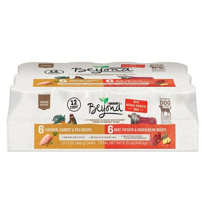 Purina Beyond Grain Free Natural Pate Wet Dog Food Chicken & Beef Recipe Variety Pack -  12ct