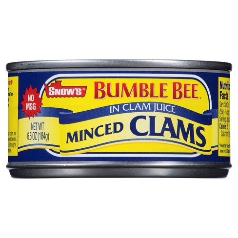 Snow's Clams Minced In Clam Juice 6.5 oz - image 1 of 1
