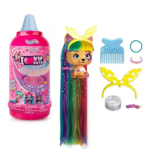 VIP Pets S1 Mousse Bottle Surprise Hair Reveal Doll - image 1 of 4