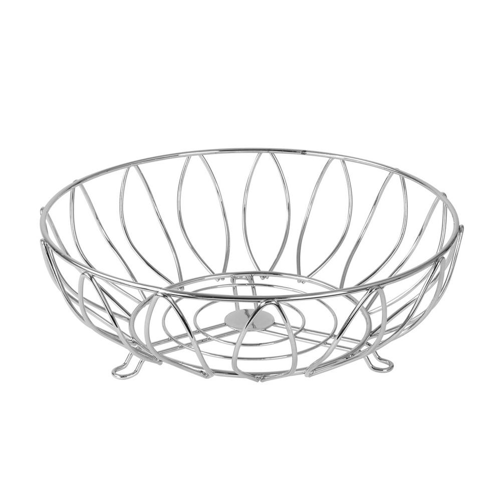 Image of Spectrum Leaf Fruit Bowl - Chrome