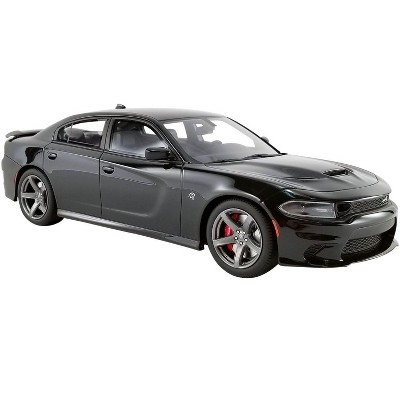 """2019 Dodge Charger SRT Hellcat Pitch Black """"USA Exclusive"""" Series 1/18 Model Car by GT Spirit for ACME"""