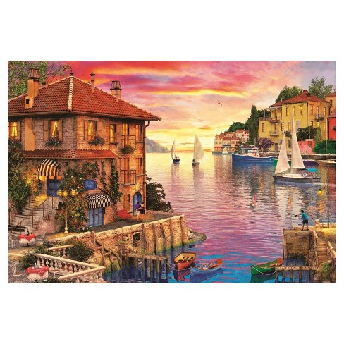 Educa The Mediterranean Harbour,  Davison 5000pc Puzzle - image 1 of 1