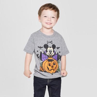 Toddler Boys' Disney Mickey Mouse Short Sleeve T-Shirt - Gray 4T